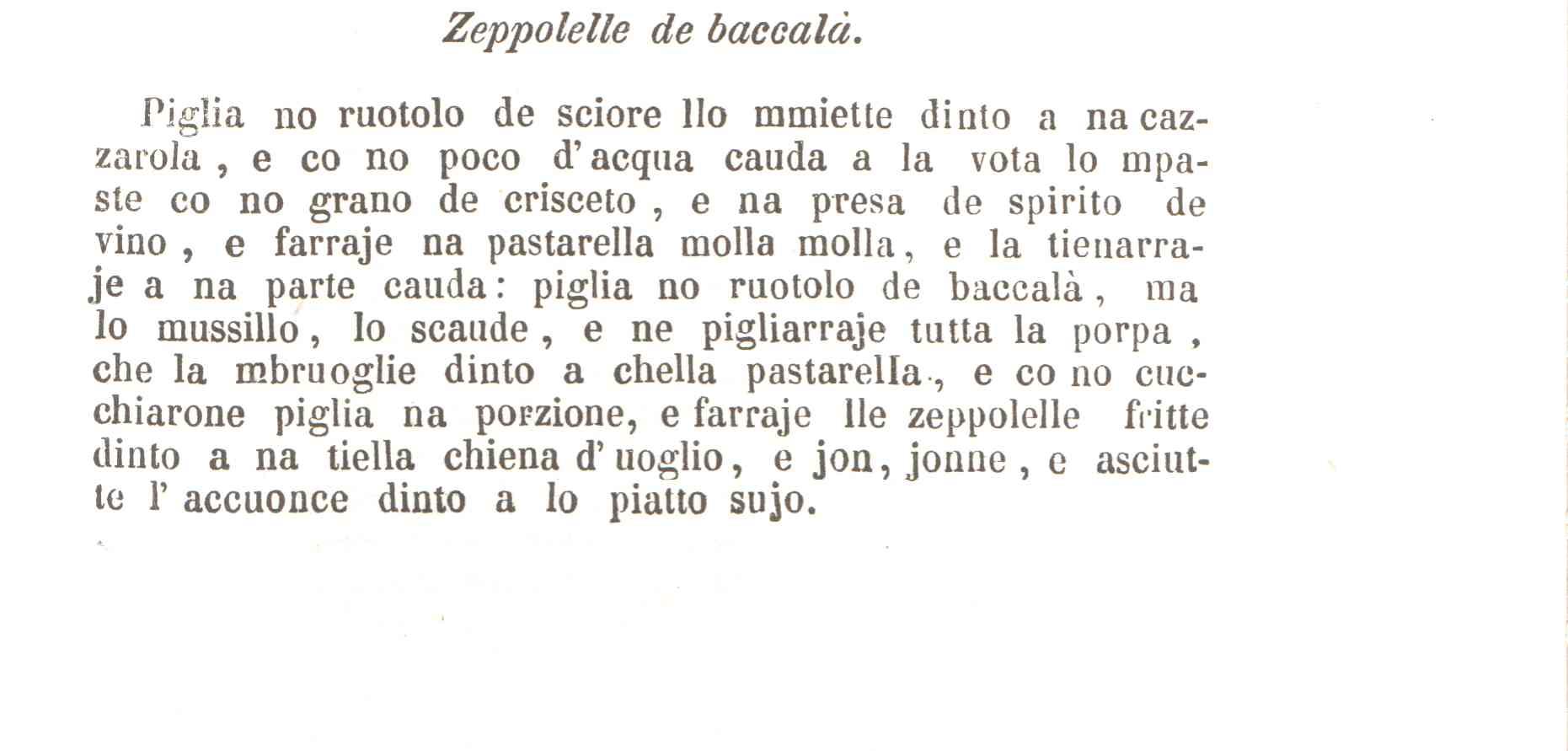 testo zeppolelle e baccalà