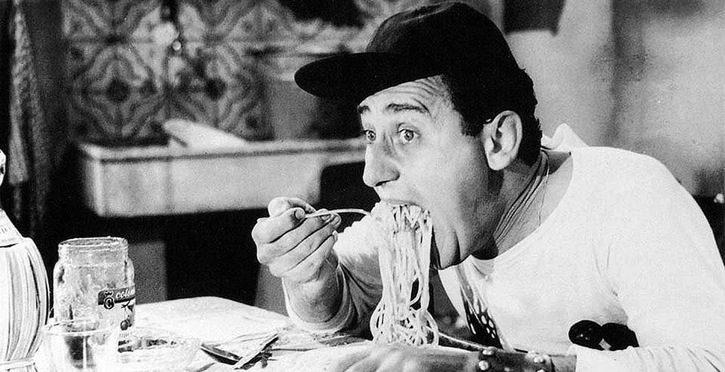 Alberto sordi e gli spaghetti: cibo e arte