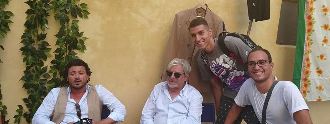 Giancarlo Giannini sul set dello spot